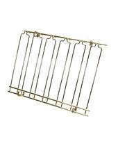 Overhead Glass Racks 5 Channels 18''x24''x4'' Brass