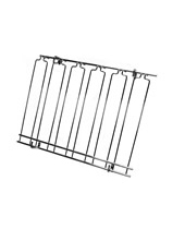 Overhead Glass Racks 5 Channels 18''x24''x4'' Black
