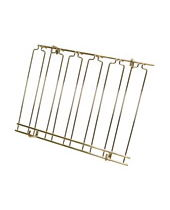 Overhead Glass Racks 8 Channels 18''x36''x4'' Brass