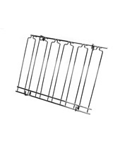 Overhead Glass Racks 8 Channels 18''x36''x4'' Black