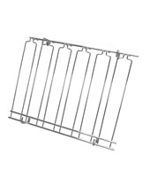 Overhead Glass Racks 8 Channels 18''x36''x4'' Chrome