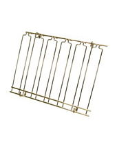 Overhead Glass Racks 11 Channels 18''x48''x4'' Brass