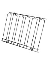 Overhead Glass Racks 11 Channels 18''x48''x4'' Black