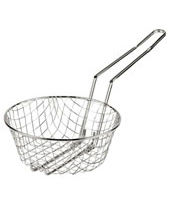 Culinary Basket - Coarse Mesh Nickel Plated Steel Wire Diam. 12