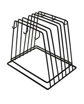 Heavy-Duty Wire Frame-Fits 6 Cutting Boards&Brushes