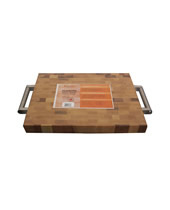 "Laminated Butcher Block W/ S/S Handles 12"" X 16"" X 1½"" Maple"