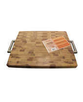 "Laminated Butcher Block W/ S/S Handles 16"" X 20"" X 1½"" Maple"