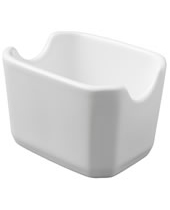 Sugar Packet Holder White Ceramic 3-3/4''x2-3/8''x2-5/8''