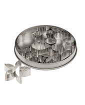 Flower And Leaf Cutter Set  (Stainless Steel)