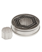 Fluted Hexigon Cutter Sets 5 Piece  (Stainless Steel)