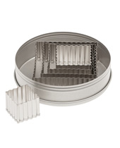 Fluted Square Cutter Sets 5 Piece (Stainless Steel)