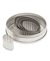 Fluted Footbal Cutter Set 5 Piece (Stainless Steel)