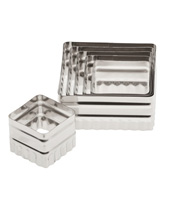 Double Sided Square Cutter 6 Piece  (Stainless Steel)