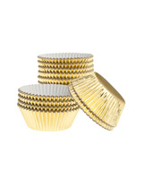 Gold Paper-Lined Foil Baking Cups 1.75