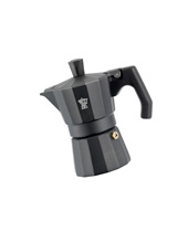Coffee Maker Enamelled Italexpress Alu. black 3 cups