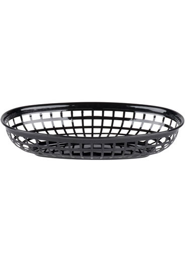 Food Basket Plastic Black 9¼ x 6 (235x150mm)
